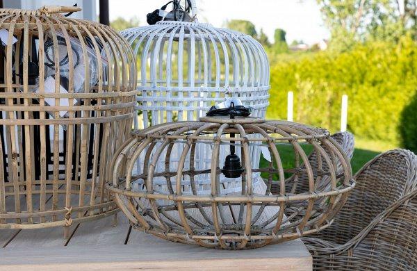 "Lampa ""Bamboo"" biała - duża | lampy-zyrandole-abazury |"