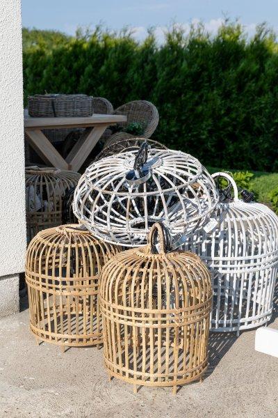 "Lampa ""Bamboo"" jasnobrązowa - duża | lampy-zyrandole-abazury |"