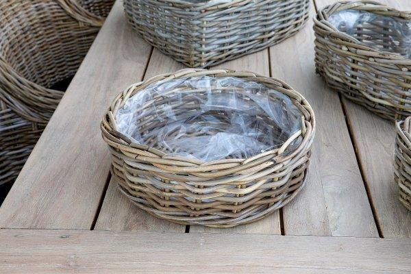 Kosz rattanowy okrągły - średnica 35cm | koszyki-kosze-wianki |
