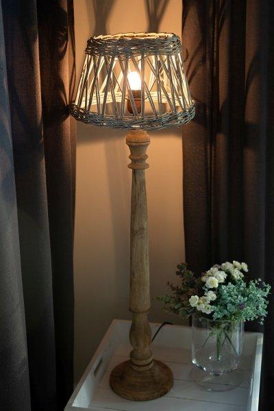 Abażur wiklinowy okrągły | lampy-zyrandole-abazury |