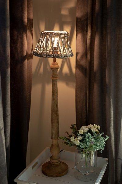 Abażur wiklinowy okrągły - mały | lampy-zyrandole-abazury |