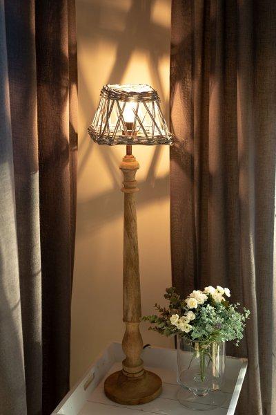 Abażur wiklinowy kwadratowy - mały   lampy-zyrandole-abazury  