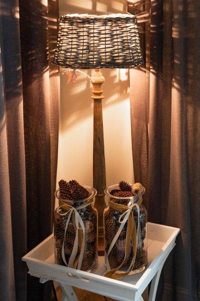 Abażur wiklinowy owalny pełny - duży | lampy-zyrandole-abazury |