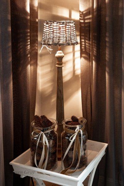 Abażur wiklinowy owalny pełny - mały | lampy-zyrandole-abazury |