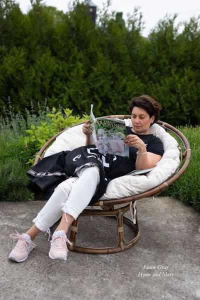 Fotel rattanowy z poduszką | dodatki |