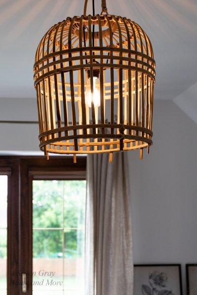 "Lampa ""Bamboo"" jasnobrązowa - mała   lampy-zyrandole-abazury  "