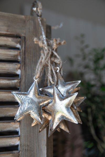 Gwiazda blaszana - złota - długość ramienia - 8cm   dodatki  