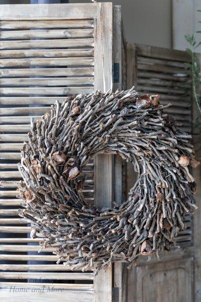 Wianek brązowy - jednostronny - średnica 50cm | koszyki-kosze-wianki |