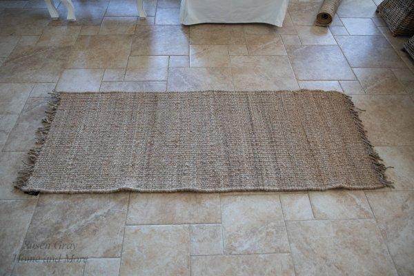 Chodnik/dywan z juty z frędzlami - prostokątny 75/180cm | dodatki |