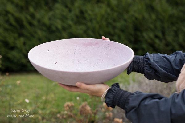 Misa pudrowy róż  D40cm | misy-patery-tace |