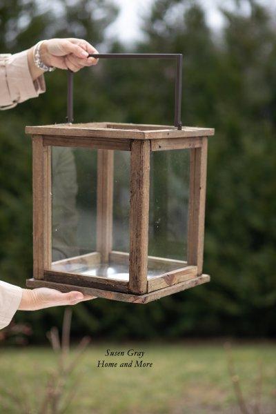 Lampion drewniany - duży   dodatki  