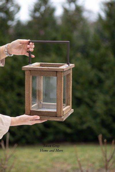 Lampion drewniany - mały | dodatki |