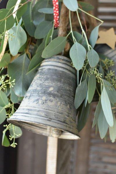 Dzwonek blaszany - wysokość 18cm | dodatki |