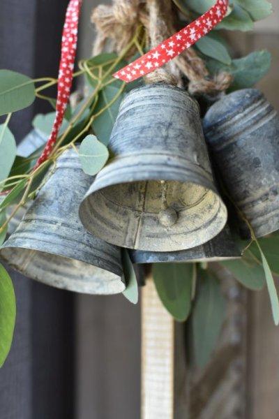 Dzwonek blaszany - wysokość 10cm, | dodatki |