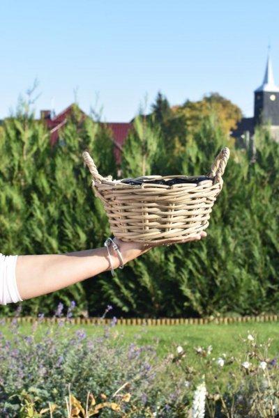 Koszyczek okrągły z uchwytami | koszyki-kosze-wianki |
