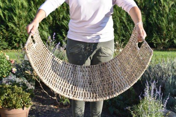 Kosz rattanowy na drewno kominkowe 72/51/H38cm | koszyki-kosze-wianki |