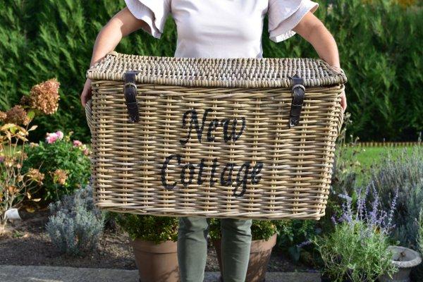 """Kufer rattanowy """"New Cottage"""" - duży   koszyki-kosze-wianki  """
