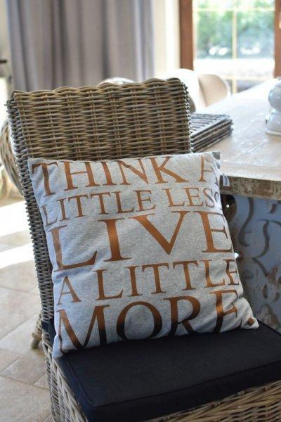 Poduszka dekoracyjna LITTLE - szara | koce-poduszki-pledy |