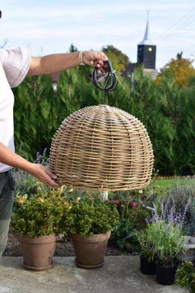 Lampa wisząca - rattanowa D50/H35cm | lampy-zyrandole-abazury |