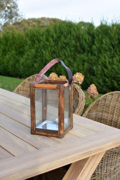 Lampion rattan/drewno/szkło 20/20/H30 - mały | dodatki |