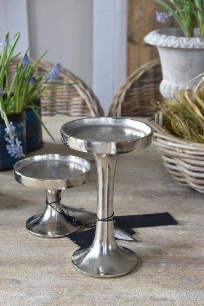 Świecznik srebrny - duży 12cm/19cm | dodatki |