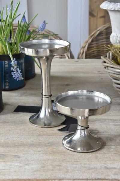 Świecznik srebrny - mały 12cm/10cm | dodatki |