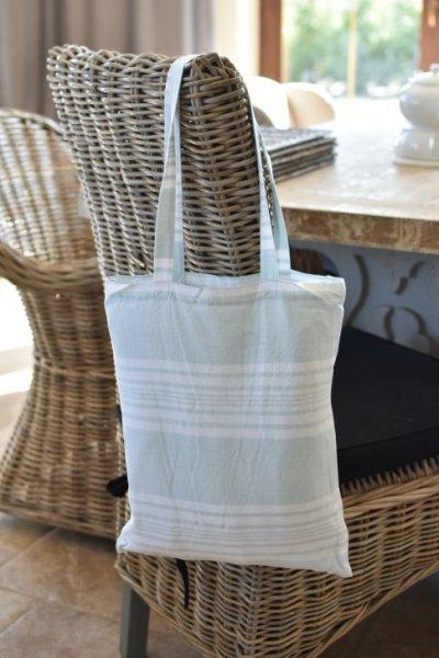 Ręcznik TERRY - jasnoniebieski z torbą | dodatki |
