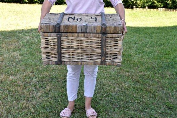 Kufer rattanowy - średni