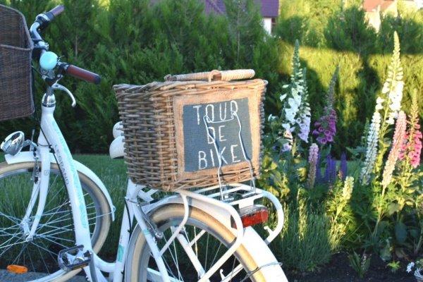 Koszyk wiklinowy na rower