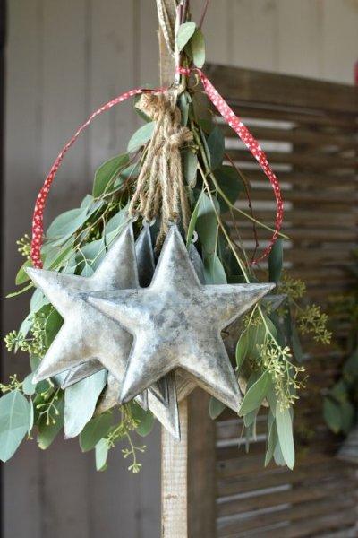 Gwiazda blaszana - długość ramienia 15,5cm | dodatki |