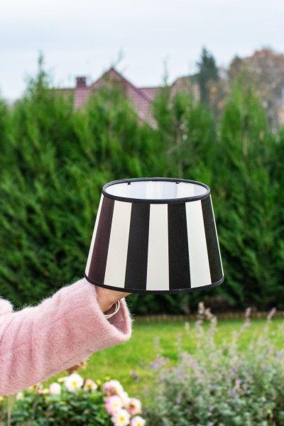 Abażur KING biało-czarny - owalny | lampy-zyrandole-abazury |