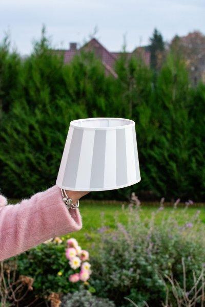 Abażur KING biało-szary - owalny | lampy-zyrandole-abazury |